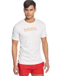 Diesel Logo Graphic T-Shirt - Lyst