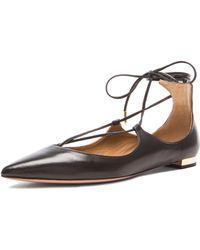 Aquazzura Christy Leather Flats - Lyst