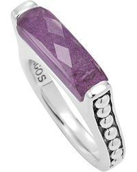Lagos Maya Silver Charoite Stackable Ring - Lyst