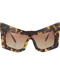 KTZ - Tortoiseshell Chunky Cat-Eye Sunglasses - For Women - Lyst
