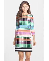 Eliza J Print Jersey A-Line Dress - Lyst