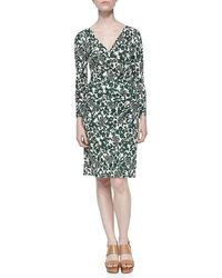 Tory Burch Michele Vine Jersey Draped Dress - Lyst