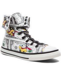 Moschino Men'S Mighty Mouse Calfskin High Tops - Lyst