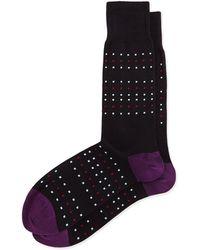 Paul Smith Black Dot-Stripe Socks - Lyst