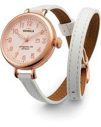 Shinola - The Birdy Double Wrap Strap Watch, 34Mm - Lyst
