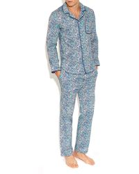 Liberty - Blue Bourton Cotton Long Pyjama Set - Lyst