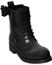 RED Valentino 40mm Rubber Lace Up Bow Boots - Lyst