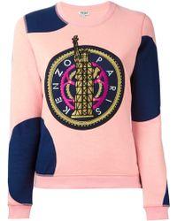 Kenzo Pink 'Liberty' Sweatshirt - Lyst