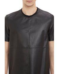 Piattelli - Leather Paneled Tshirt - Lyst