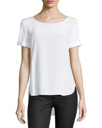 Vince High-low Contrast Tee - Lyst
