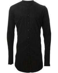 Lost & Found Mandarin Collar Oversized Shirt - Lyst