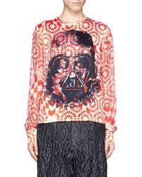 Preen Star Wars Print Silk Satin Top - Lyst