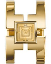 Tory Burch Sawyer Golden Bangle Watch - Lyst