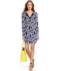 Diane von Furstenberg - Reina Silk Jersey Tunic Dress - Lyst