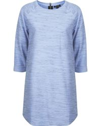 Topshop Space Dye Tunic  Light Blue - Lyst