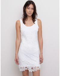 Pull&Bear Open Back Crochet Dress - Lyst