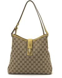 Gucci Canvas Shoulder Bag brown - Lyst