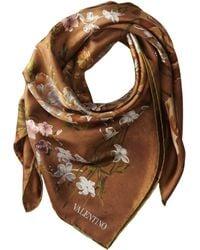Valentino Flemish Flowers Twill Scarf - Lyst