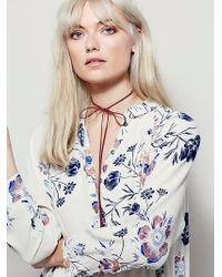 Free People | Womens Lena Mini Dress | Lyst