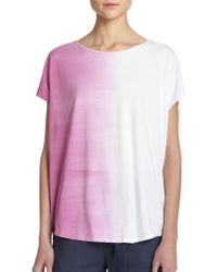 Vince OmbrÉ Cocoon Tee pink - Lyst