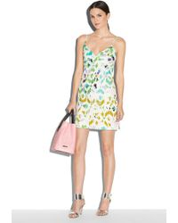 Milly Mosaic Print Slip Dress multicolor - Lyst