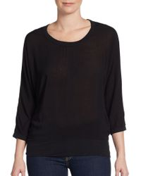 James Perse Dolman Sleeved Jersey Top - Lyst