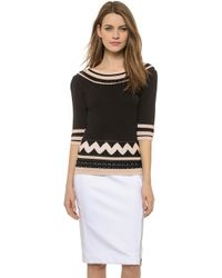 Temperley London Dina Scoop Neck Sweater - Black Mix - Lyst