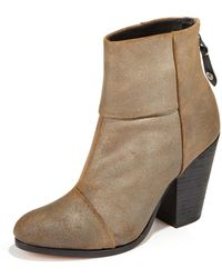 Rag & Bone Metallic Leather Newbury Boot - Lyst