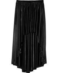 Enza Costa Draped Satin Skirt - Lyst