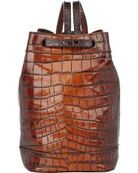 Tomas Maier - Croc-Embossed Backpack - Lyst