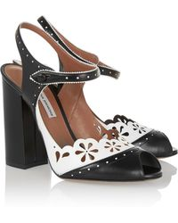 Tabitha Simmons Kitty Cutout Leather Peep-Toe Pumps - Lyst