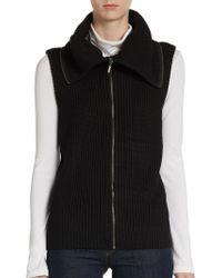 Saks Fifth Avenue Black Label - Ribbed Knit Vest - Lyst
