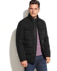 Perry Ellis Portfolio Big and Tall Quilted Water-resistant Puffer Coat - Lyst