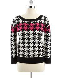 Anne Klein Pink Pullover Sweater - Lyst