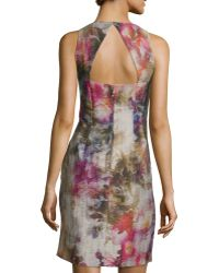 Kay J's By Kay Unger - Sleeveless Floral-print Dress - Lyst