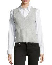 Michael Kors V-Neck Sweater Vest - Lyst