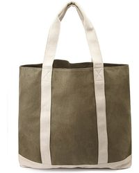 Forever 21 Two-Tone Canvas Weekender - Lyst