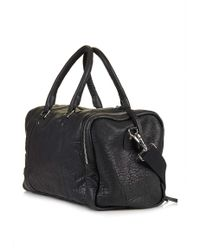 TOPSHOP - Leather Luggage Bag - Lyst