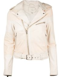 Iro Pre-order Witney Colorblock Leather Jacket - Lyst