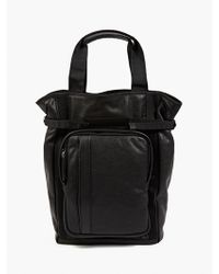 Marni Men'S Black Leather Tote Bag - Lyst