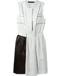 Proenza Schouler Perforated Color-Blocked Dress - Lyst