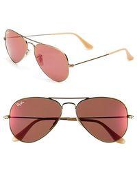 Ray-Ban Women'S 'Original Aviator' 58Mm Sunglasses - Bronze/ Red Mirror - Lyst