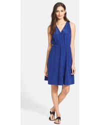 Rebecca Taylor Ink Dot Print Silk Blouson Dress - Lyst