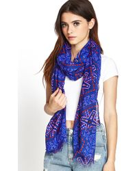 Forever 21 - Frayed Tribal Print Scarf - Lyst