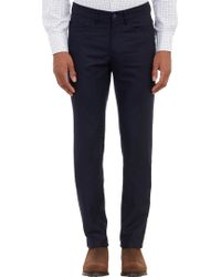 Barneys New York Flannel Trousers - Lyst