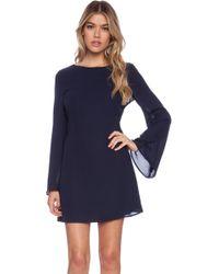 Blaque Label Long Sleeve Mini Dress - Lyst