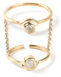 Pamela Love Gravitation Chain Ring - Lyst