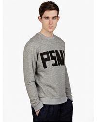 Public School Men'S Grey Logo Sweatshirt - Lyst