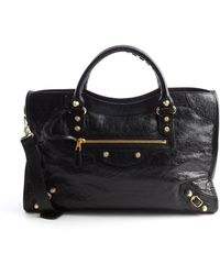 Balenciaga Grained Leather City Convertible Satchel Bag - Lyst