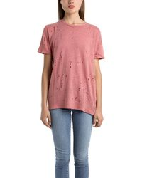 IRO Clay Holey Tee In Rose pink - Lyst